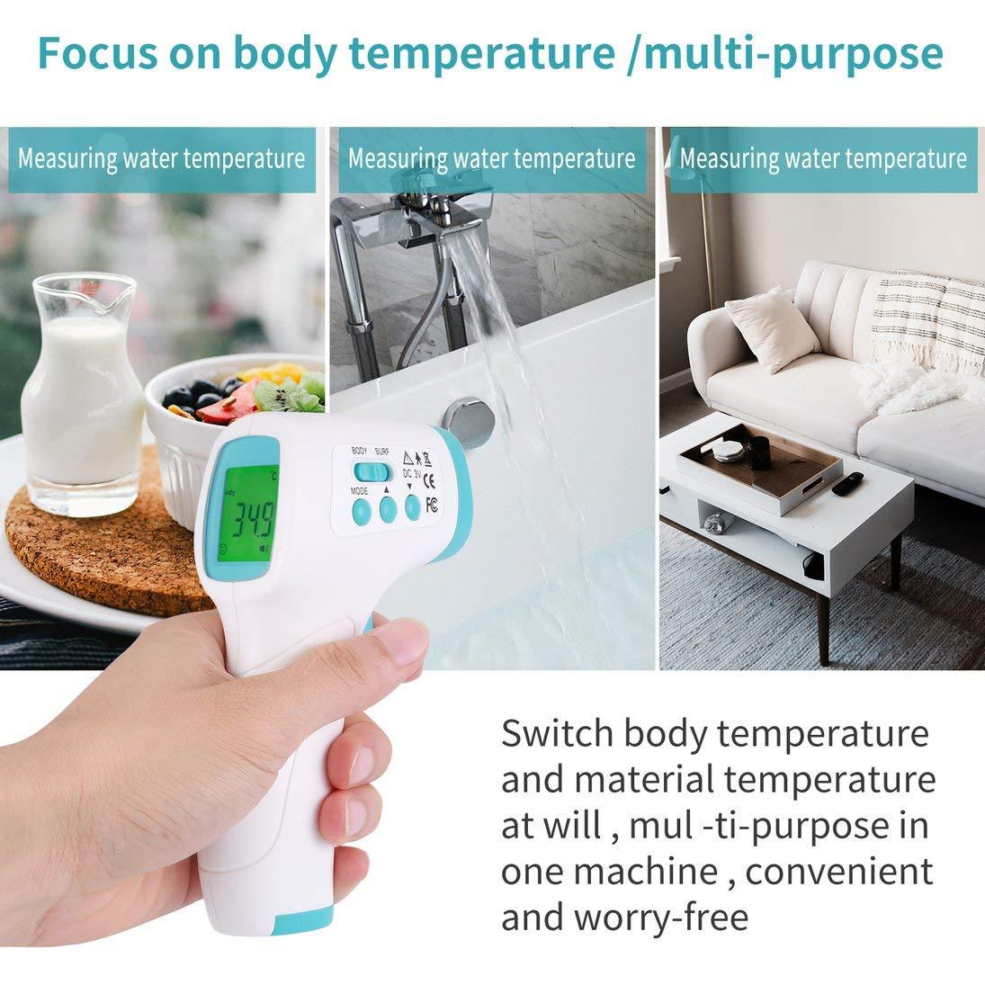 XINFULUK Handheld Portable Ber/ührungslose Infrarot-Stirntemperaturpistole Hochpr/äzises Thermometer-Temperaturmessger/ät 208A