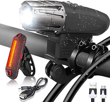 Flybiz Luces Bicicleta Delantera y Trasera, LED Bicicleta USB ...