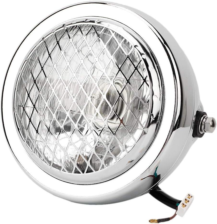 12V LED moto phares phare avant /étanche pour Chopper Bobber argent