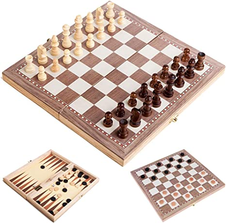 Chess Set Travel Board Game Set Educational Game International for Adults