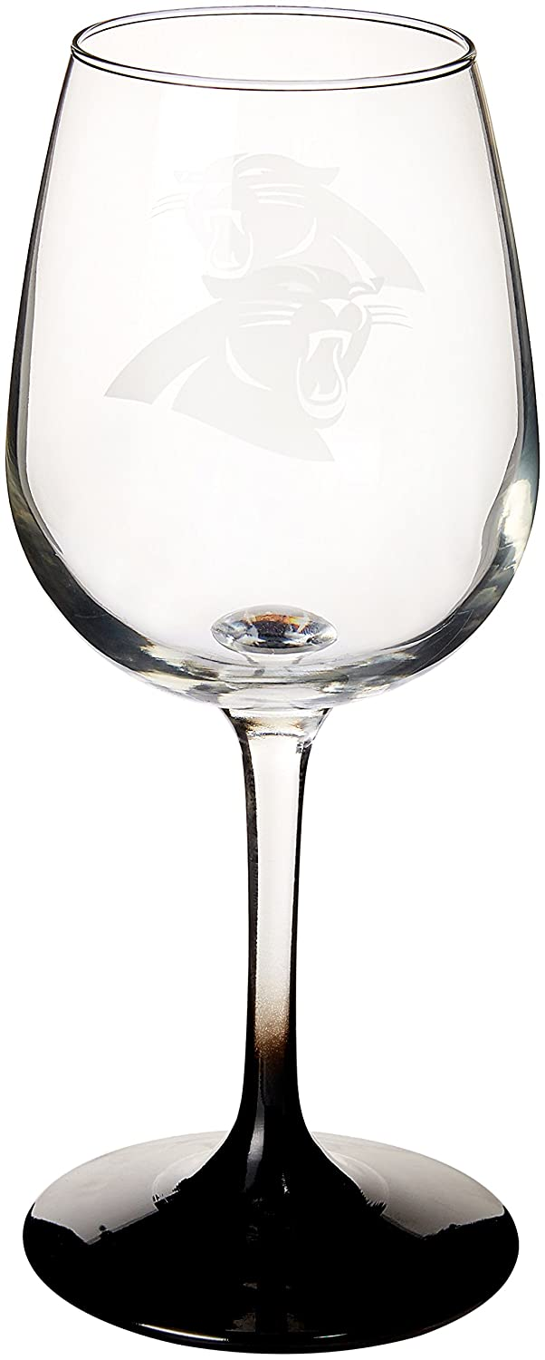 NFL Carolina Panthers Wine Glass, 12-ounce, 2-Pack Boelter Brands 176891