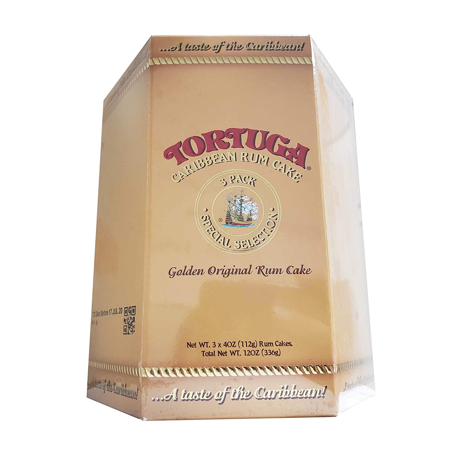 TORTUGA Caribbean Original Rum Cake with Walnuts - 4 oz. 3 Pack - The Perfect Premium Gourmet Gift for Stocking Stuffers, Gift Baskets, and Christmas Gifts - Great Cakes for Delivery