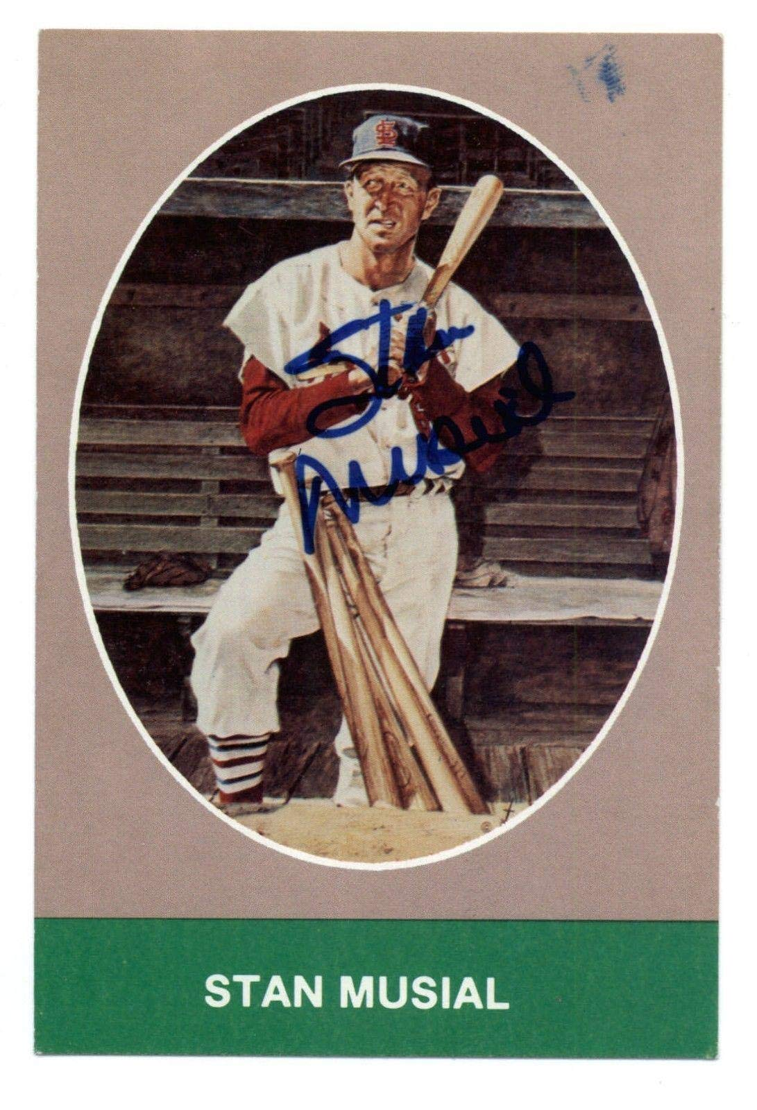 Stan Musial (d.2013) Cardinals HOF Signed TCMA Postcard COA JSA Certified MLB Cut Signatures