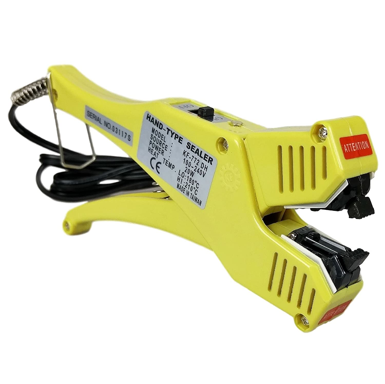 20W Handheld Direct Heat Sealer KF-772DH with Hi/Lo Temp Setting for Sealing Plastic ClamShell Packages and Containers