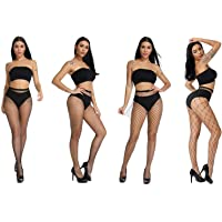 Fishnets Tights Ladies Fishnet Stockings Thin Fishnet Pantyhose Black Cross Mesh Stockings Sexy Pantyhose for Women(big…