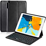 """iPad Keyboard Case for 9.7"""", EC Technology Ultra-Thin Bluetooth Keyboard Case for 9.7"""" iPad 2018 (6th Gen)/iPad 2017 (5th Gen)/iPad Air 1 with 7 Color Backlight Intelligent Magnetically Switch,Black"""