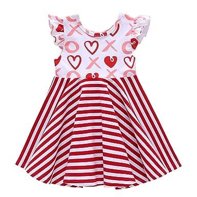 d4d3d57c1cec8 Amazon.com: Baby Girl Dresses, SMALLE◕‿◕ Toddler Baby Girl Dress ...