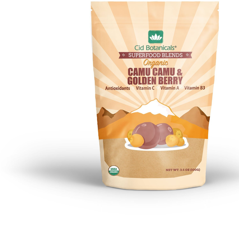 Cid Botanicals Organic Superfood Blend Camu and Golden Berry