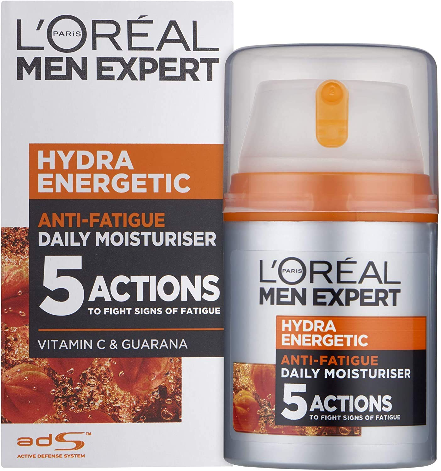 L'Oreal Men Expert Hydra Energetic Daily Anti-Fatigue Moisturizing Lotion, 1.6 Ounce