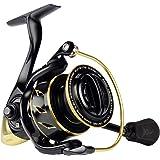 KastKing Sharky III Gold Fishing Reel, Zero-Flex Aluminum Body Spinning Reel, 39.5 Lbs Carbon Drag, 10+1 Double Shielded Ball Bearings, 5.2:1 Gear Ratio, Inshore or Freshwater.