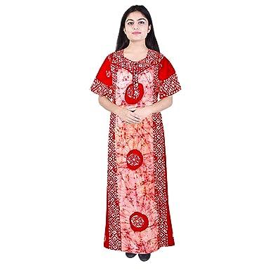 Mudrika Women s Cotton Nighty (Multicolour 07a3519555f3