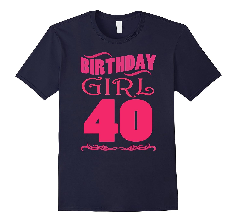 Womens 40th Birthday Girl Cute 1977 Girl T-Shirt-PL