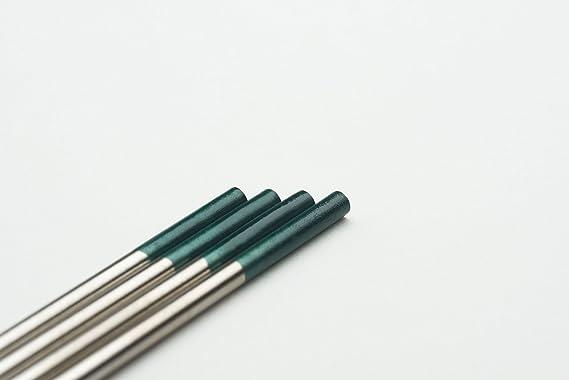 10 pieza Wig Tungsteno electrodos W verde ø2,4 X 175 Mm agujas (sin torio): Amazon.es: Bricolaje y herramientas