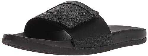 Mens Skechers Gambix Black Slide On Flip Flop Slider Sandals