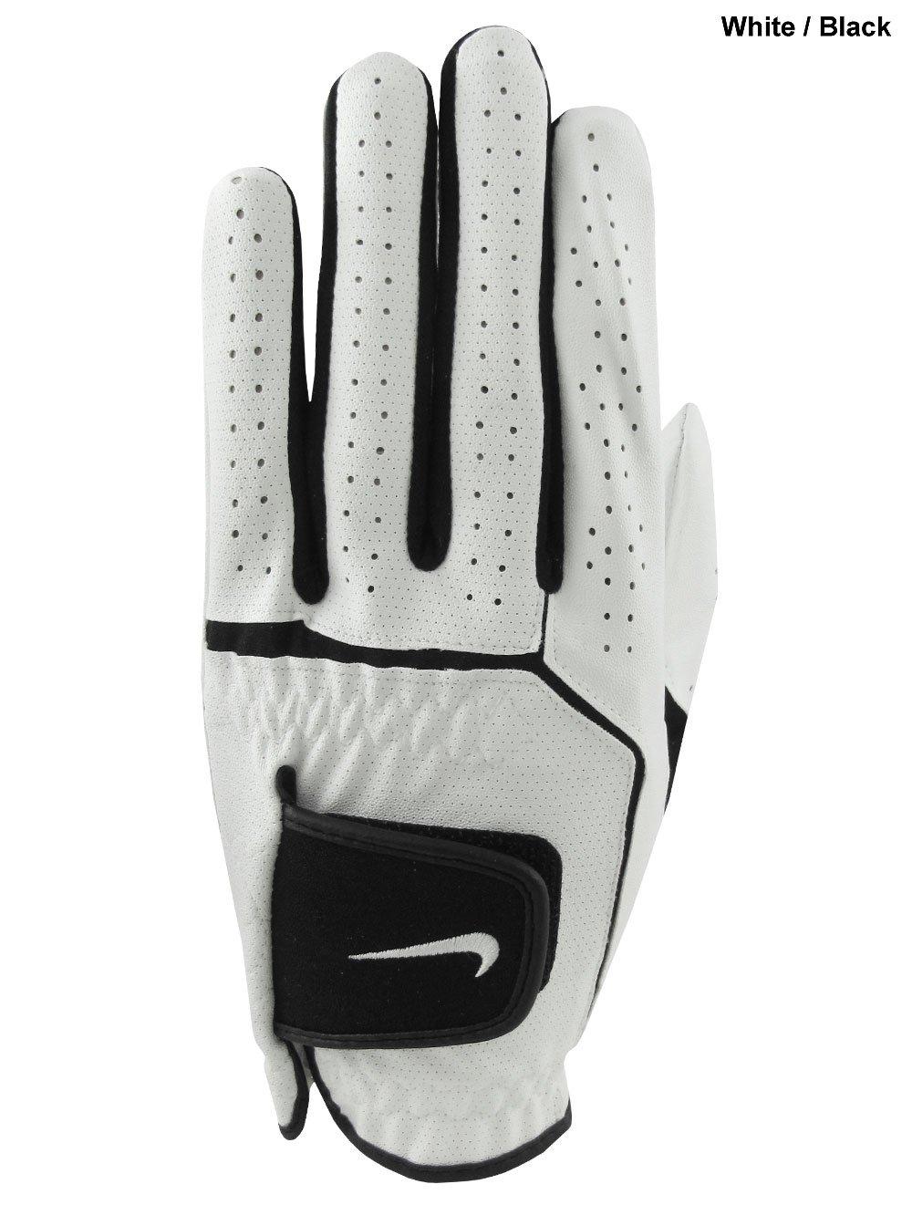 NikeゴルフDura Feel VI 2 - Pack Regular Glove (左)、スモール、ホワイト/ブラック   B007PZXWO4