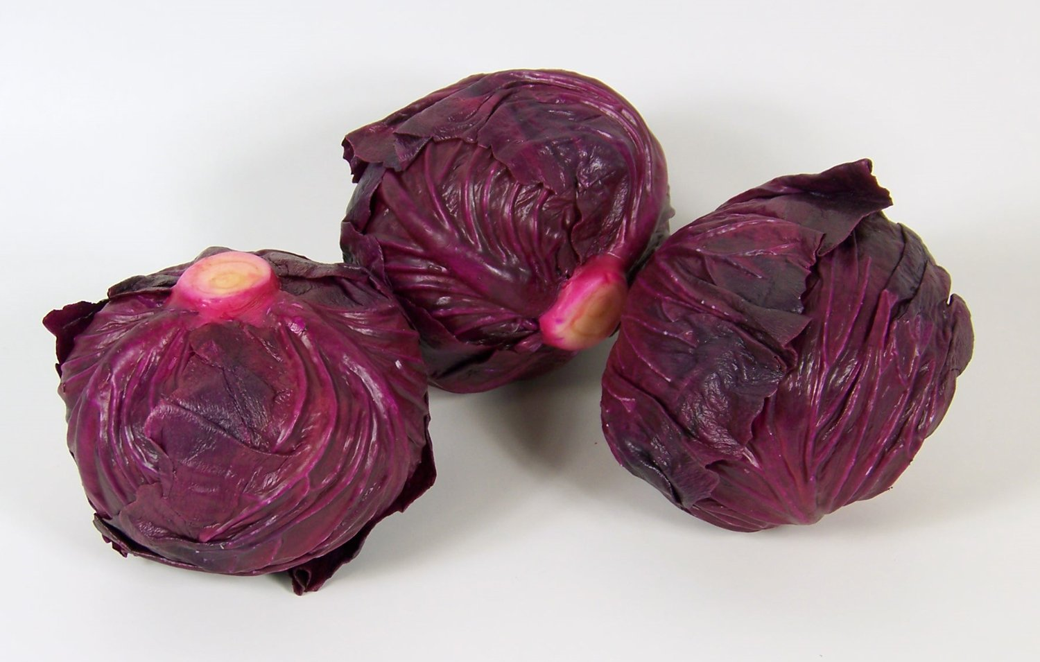 Designer One Artificial Faux Fake Purple Cabbage Vegetable