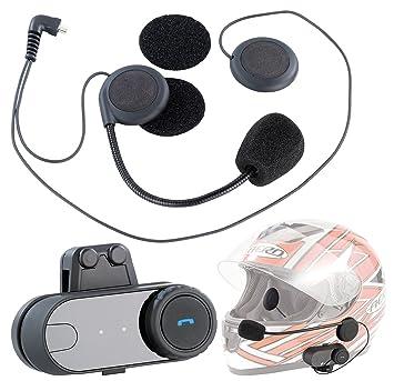 NavGear BTH-200 - Auriculares y micrófono con Bluetooth para casco de moto