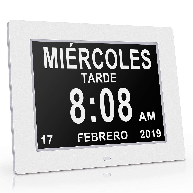 Reloj calendario con fecha, día y hora   Reloj Alzheimer   Reloj Tercera Edad product