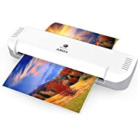 ABOX A4 Portable Thermal Laminating Machine with 12 Pouches & Fast Warm-up (White)