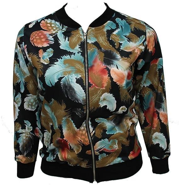 31dd23af0 Amazon.com: Girl Talk Clothing Womens Plus Size Feather Print Long ...