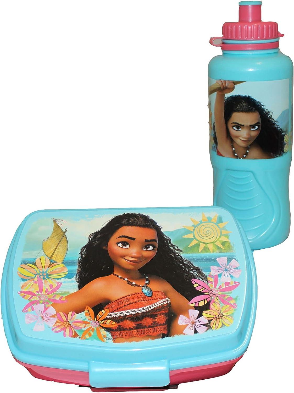 Disney Vaiana Moana Pausas Caja/fiambrera y botella: Amazon.es: Juguetes y juegos