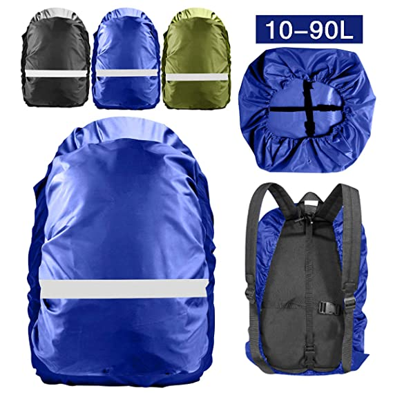 Topspeeder Backpack Rain Cover (10L-90L) 100/% Waterproof Backpack Cover Upgraded Waterproof Backpack Cover with Adjustable Cross Strap for Hiking Camping Traveling Outdoor Activities