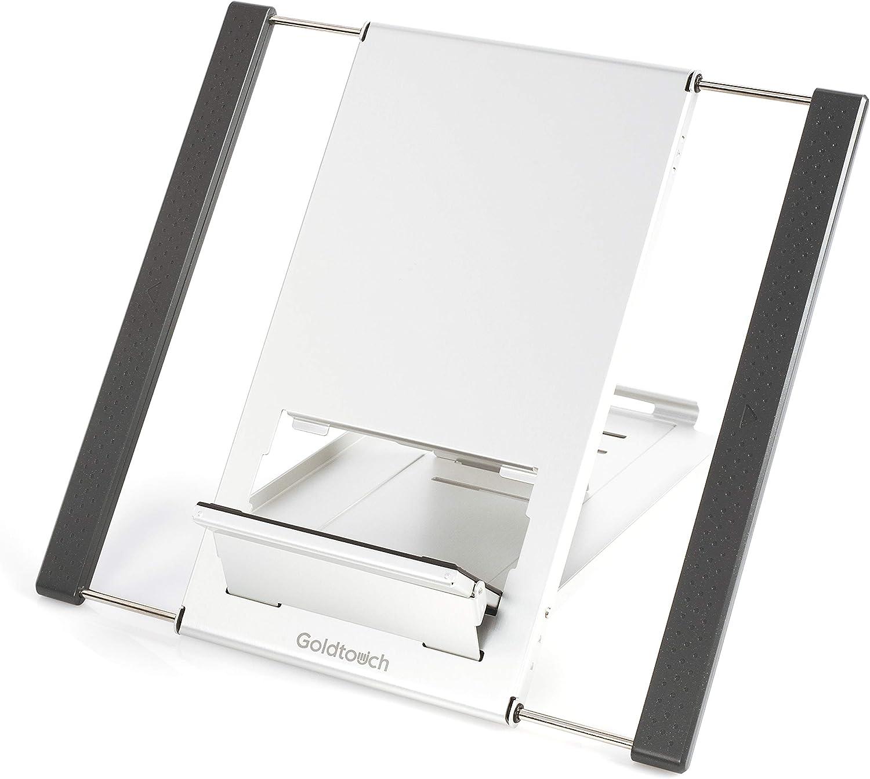 Goldtouch KOV-GTLS-0055 Go! Travel Laptop and Tablet Stand (Aluminum),Black