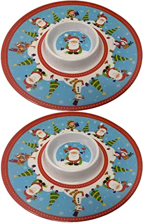 Christmas Platters And Trays.2x Christmas Snack Trays Serving Platters