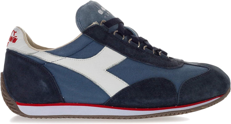 Diadora Heritage Scarpe Equipe Stone Wash 12 Sneaker Uomo 201-156988 Equipe C4802 Blu Primavera Estate 2018