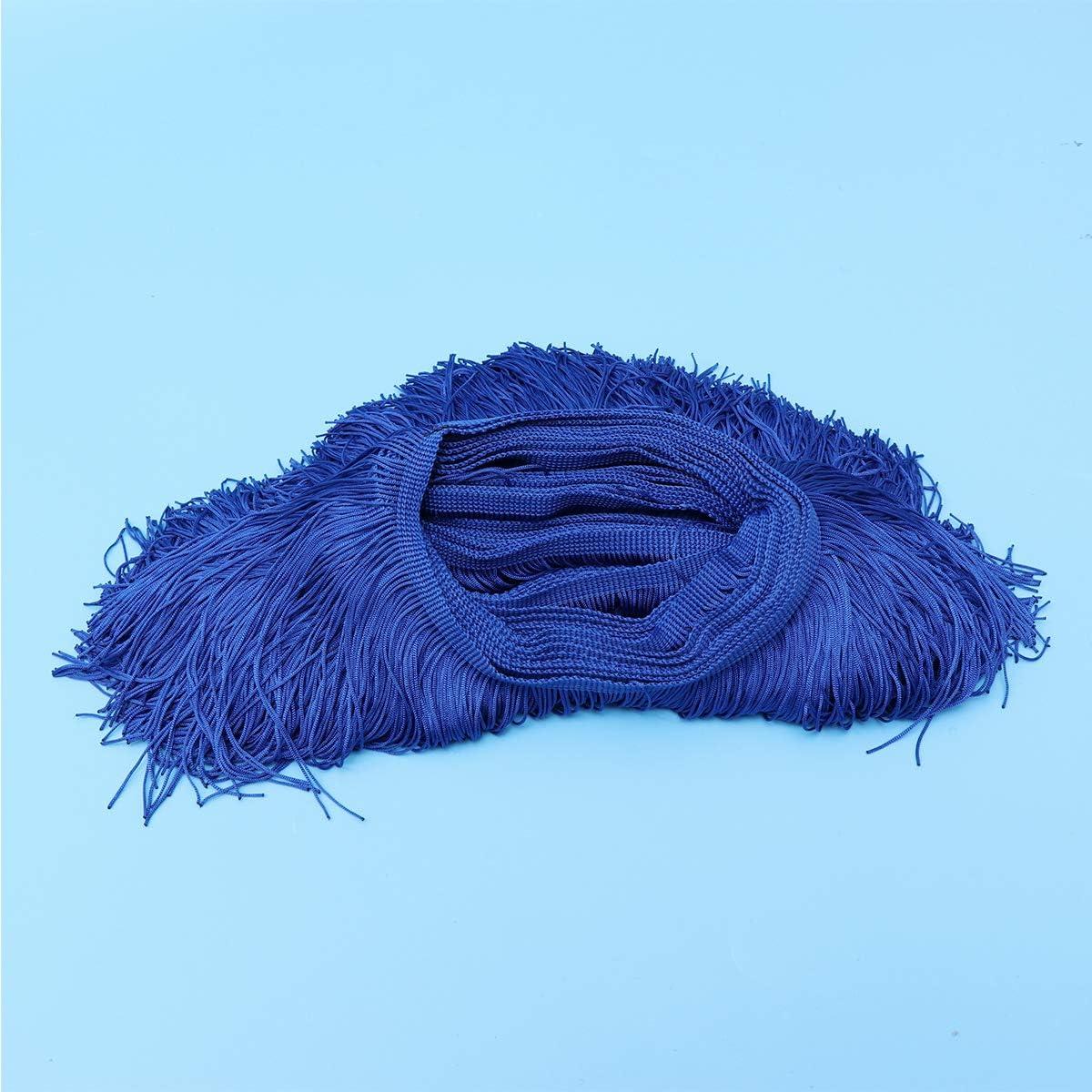 SUPVOX Borde de encaje Borde de fibra de poli/éster de encaje 6 pulgadas de ancho 10 yardas de largo para accesorios de ropa Vestido de boda latino craft DIY L/ámpara Sombra Decoraci/ón azul