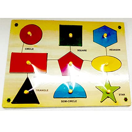 Healthy Brains Learning Wooden Puzzles for Kids (Shapes)