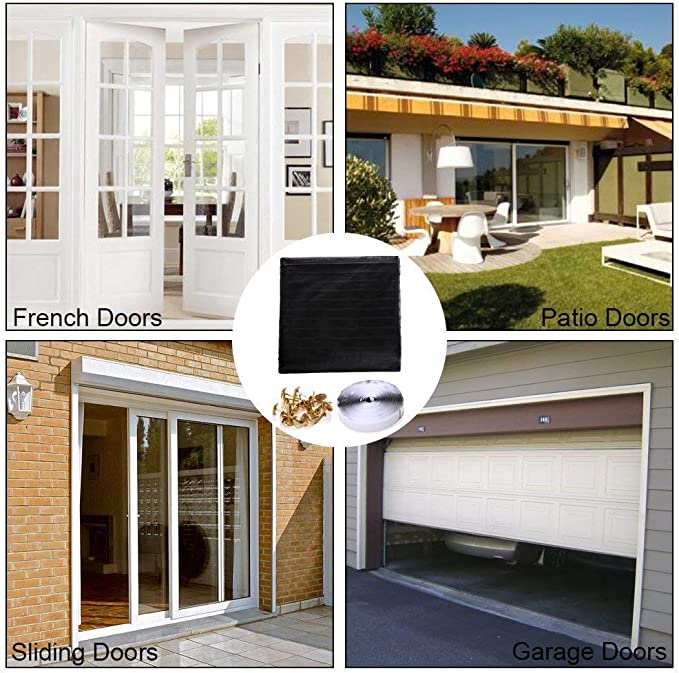 """New w Linkhome 36/"""" Magnetic Screen Door for French Doors//Sliding Gl.. h X 98/"""""""