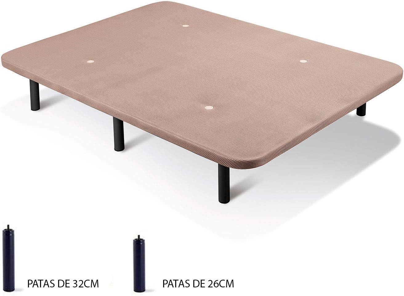 Base Tapizada con Tejido 3D y Valvulas de Transpiraci/ón con Patas 105x190   Patas 26cm Imperial Relax