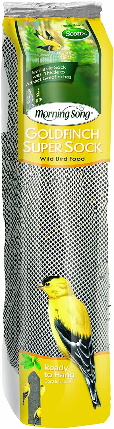 Morning Song 2022138 Goldfinch Thistle Super Sock Feeder for Wild Bird Food, 13-Ounce