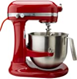 KitchenAid RKSM8990ER 8-Quart Refurbished Commercial Countertop Mixer, 10-Speed, Gear-Driven, Empire Red