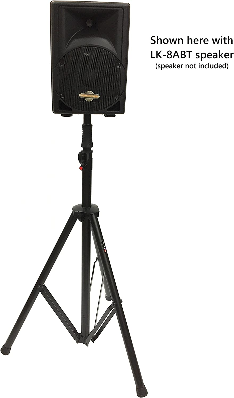 Tripod DJ PA Speaker Stands Push Button Air Raising System Metal Parts 2 CedarsLink Pair