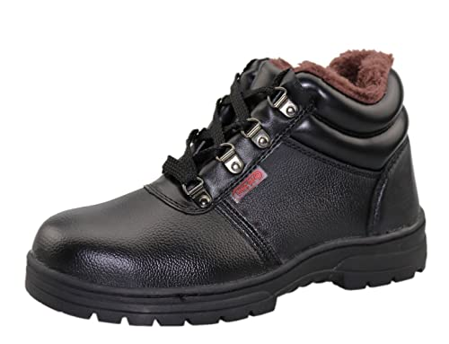03ed8fc252d4b Scarpa Antinfortunistica Uomo Alta S3 Scarpe da Lavoro Stivali di Sicurezza  Caldo Pelliccia Stivali