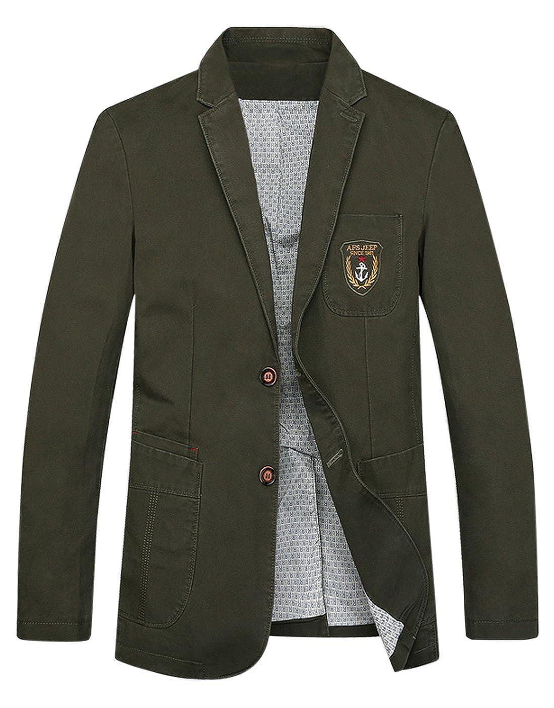 Gihuo Mens Casual Slim Fit Suit Blazer Sport Jacket