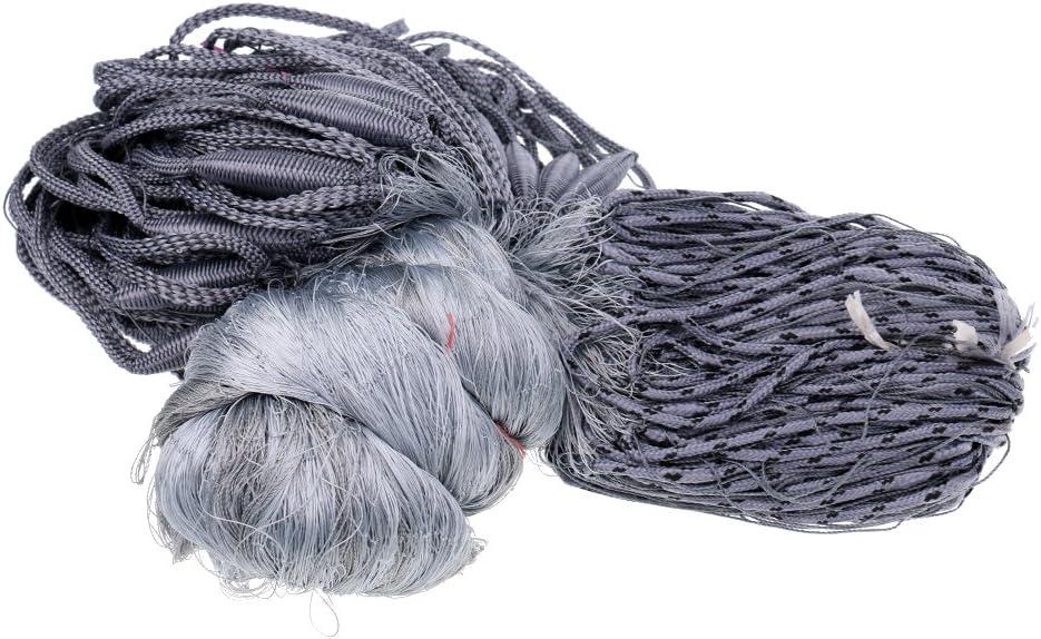 30x1.8m Nylon Gray Fishing Gill Net Fish 4x4cm Mesh Hole Fishermen Tackle  US