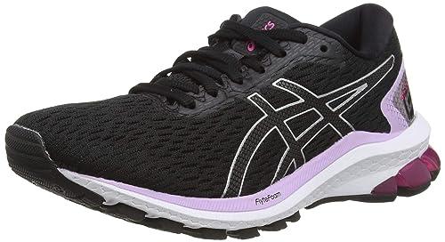 ASICS Women's Gt-1000 9 Black/Pure Silver Running Shoes-7 UK (40.5 EU) (9 US) (1012A651)