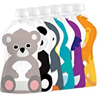 Squooshi Reusable Food Pouches   Baby Food Storage   6 Small 3.4 oz Pouches
