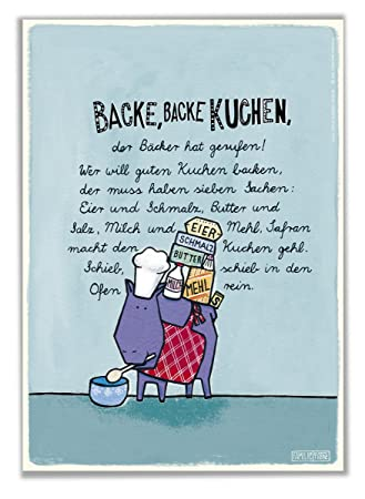 Poster Kinderzimmer Backe Backe Kuchen Amazon De Baby