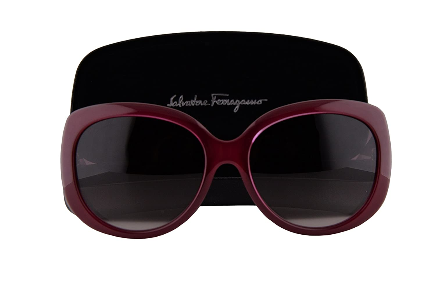 Salvatore Ferragamo SF721S Sunglasses Cherry Red w/Brown Red Gradient Lens 623 SF 721S