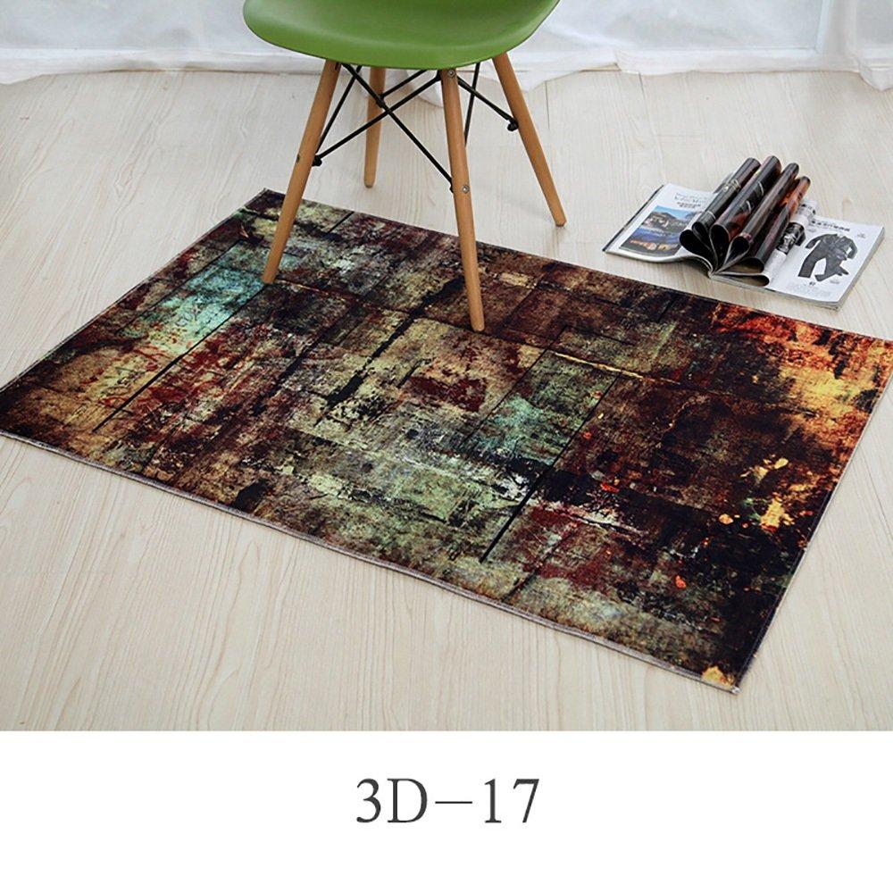 カーペット敷物パーソナライズされたファッションデザイン玄関ベッドルームキッチンマットウォーター長方形パッド吸収性バスルームノンスリップ ( Size : 80*120cm , Style : 3D-17 )   B07BK2GCZM