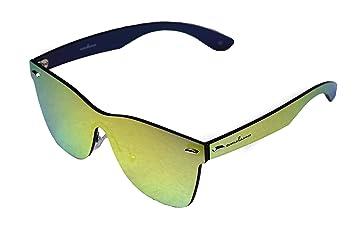 8fbcc71b26 amoloma Frameless Rimless Sunglasses Wayfarer style gold mirrored ...