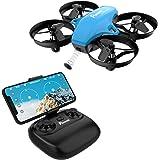 Potensic Drone con Telecamera Mini Drone Telecomando Quadricottero WiFi Funzione Sospensione Altitudine, modalità Senza Testa, Adatto per Principianti, Buon Regalo per Bambini Blu