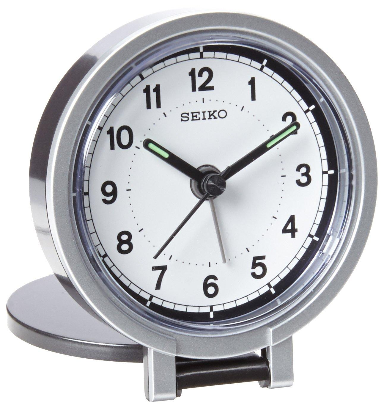 Seiko QHT011KLH Travel Analog Clock Seiko International
