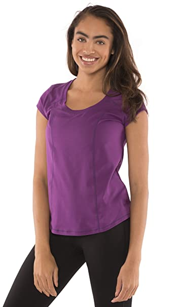 954d151c586 Image Unavailable. Image not available for. Color  Yogatech Womens Perfect  Soft Scoop Neck Short Sleeve Tee ...