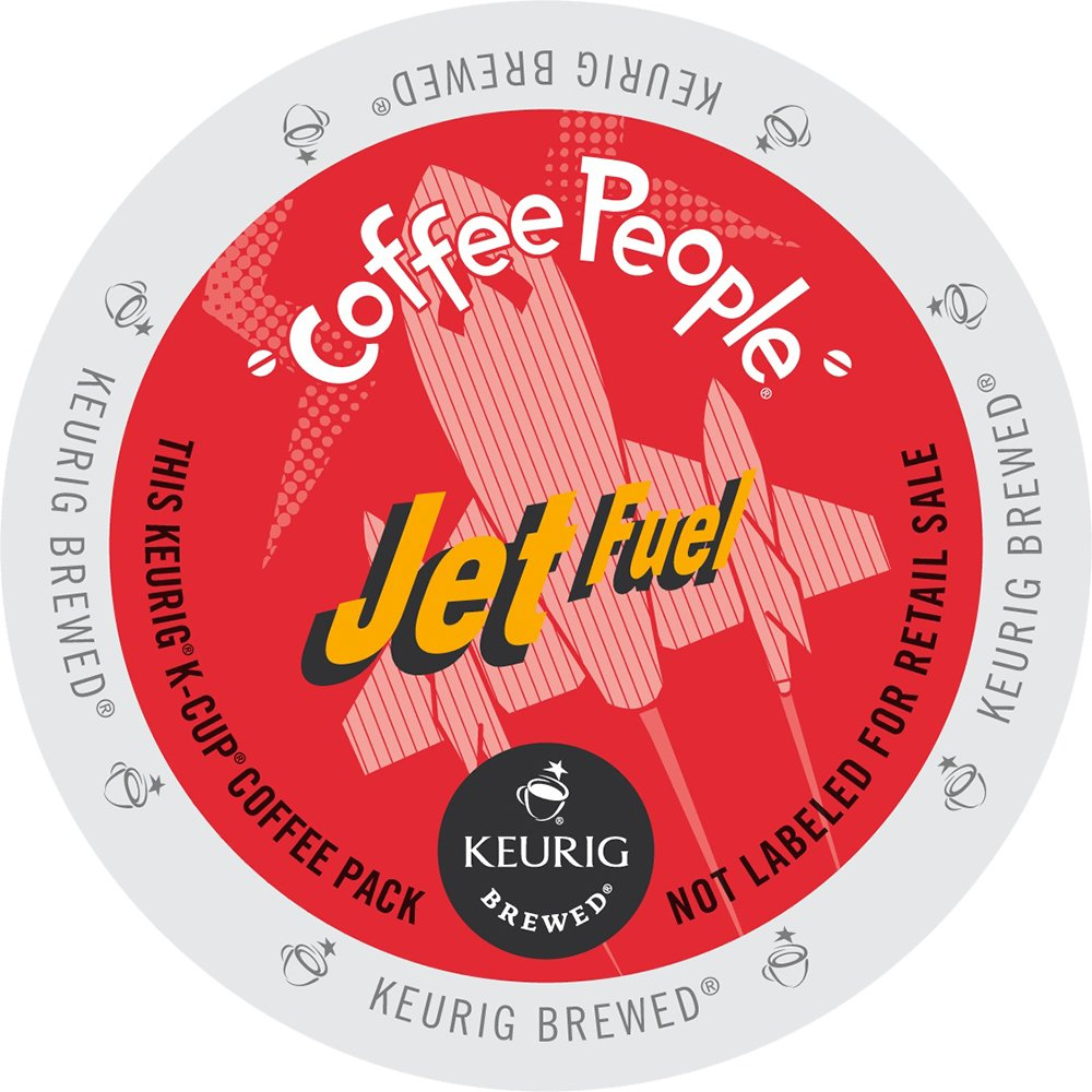 Keurig, Coffee People, Jet Fuel, K-Cup Counts, 50 Count