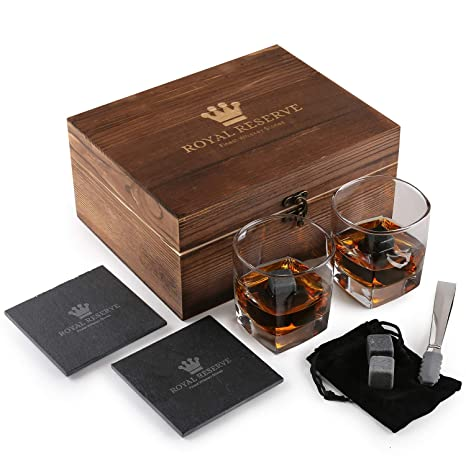 Amazon.com: Set de regalo de piedras de whisky por Royal ...